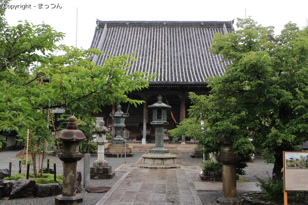 雨上がりの穴太寺にて