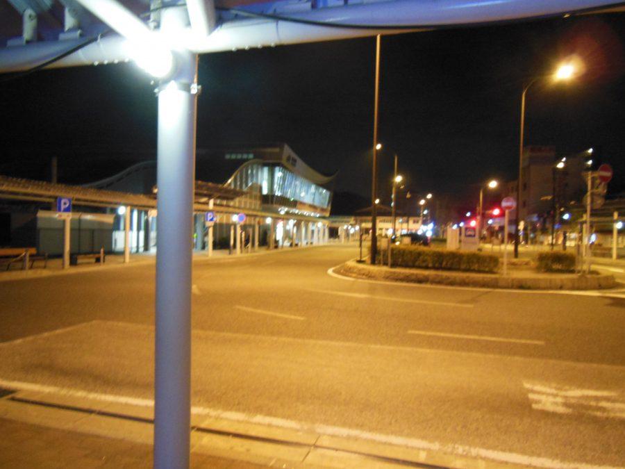 深夜3時の亀岡駅