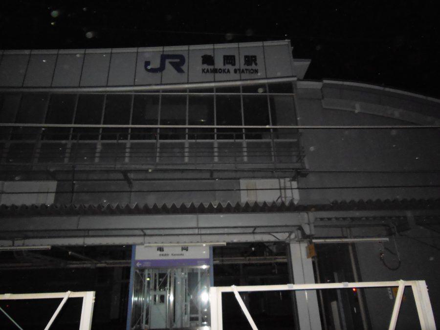 オーブが写る亀岡駅